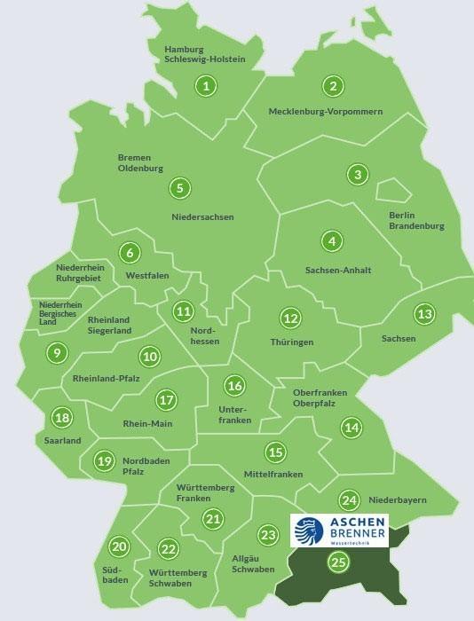 Schwaben Karte Deutschland.Aschenbrenner Aschenbrenner Wassertechnik
